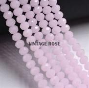 Граненые бусины, светло-розовые, 3*4 мм, Чехия