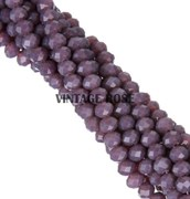 Граненые бусины, искристый фиолетовый, 3*4 мм, Чехия