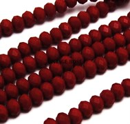 Граненые бусины, марсианский красный, 3*4 мм, Чехия