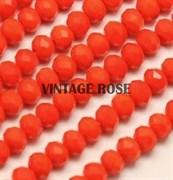 Граненые бусины, ярко-апельсиновый, 3*4 мм, Чехия