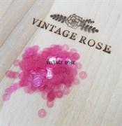 Пайетки 4мм плоские Antique Pink LU #3092 Италия, прозрачные
