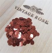 Пайетки 4мм плоские Bronze MT #8171 Италия, металлизированные