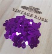 Пайетки 4мм плоские Light Violet #5161 Италия, металлизированные