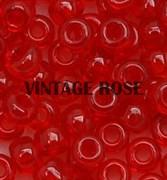 Бисер TOHO круглый 15 #0005C, красный, прозрачный