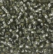 Бисер TOHO круглый 15 #0029 Внутреннее серебрение, черный бриллиант