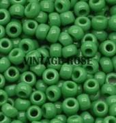 Бисер TOHO круглый 15 #0047D Непрозрачный, зеленый клевер