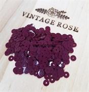 Пайетки 4мм плоские Bordeaux #4504 Италия, глянцевые