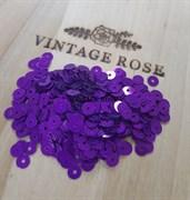 Пайетки 4мм плоские Violet M2 #5389 Италия, металлик