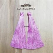 Вискозные кисточки для сережек 10 см, Розовые