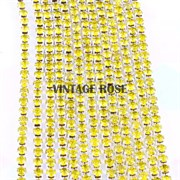 Лента из страз, 4 мм, Желтая, 10 см (Желтый)