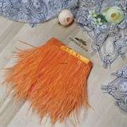 Перья страуса на ленте, оранжевые