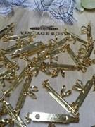 Основа для броши/кулона 32 мм, родиевое покрытие