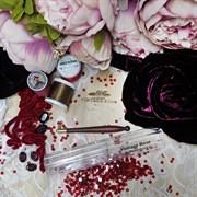 """Люневильский крючок с 4-мя иглами бренда Vintage Rose """"БОРДО"""""""