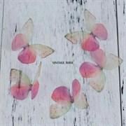 Бабочка из органзы, фуксия, 50 мм, 1 шт