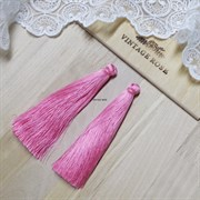 Вискозные кисточки для сережек 9,5 см, Розовый