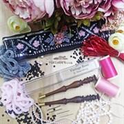Люневильский крючок с 4-мя иглами бренда Vintage Rose Шахматы, шоколадный цвет