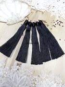 Вискозные кисточки для сережек 12 см, черные