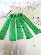 Вискозные кисточки для сережек 12 см, зеленые