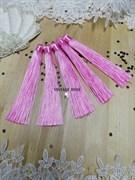 Вискозные кисточки для сережек 12 см, розовые