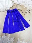 Вискозные кисточки для сережек 12 см, синие