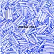 Стеклярус TOHO Bugle1 №13, 9 мм, голубой прозрачный, 5 г