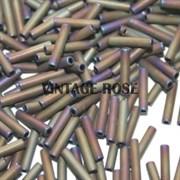 Стеклярус TOHO Bugle6 №613, 9mm , металлический ирис матовый, 5 г