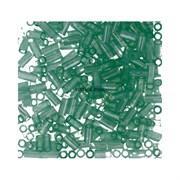 Стеклярус TOHO Bugle3 №144, 9мм, светло-зеленый полупрозрачный, 5г