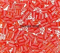 Стеклярус TOHO Bugle3 №50, 9мм, оранжевый, 5г