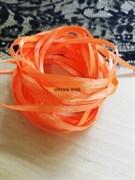 Лента атласная 3 мм цвет 023 ярко оранжевая