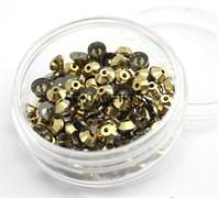 Пайетки хрустальные 4 мм золото 10 шт /уп