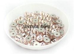 Пайетки хрустальные 4 мм розовые