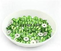 Пайетки хрустальные 4 мм травянистый 10 шт /уп (4 мм)