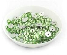 Пайетки хрустальные 4 мм св.зеленый 10 шт /уп (4 мм)