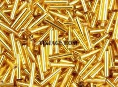 Стеклярус TOHO Bugle3 №22С, 9мм, золотой, 5г