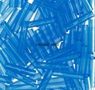 Стеклярус TOHO Bugle2 №03CF, 9мм, темно-голубой полупрозрачный матовый, 5г