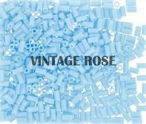 Стеклярус TOHO Bugle2 №43, 3мм, голубой глянцевый непрозрачный, 5г