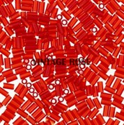Стеклярус TOHO Bugle2 №05, 3мм, красный глянцевый прозрачный, 5г