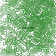 Стеклярус TOHO Bugle3 №144, 3мм, Светло-зеленый перламутровый, 5г