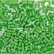 Стеклярус TOHO Bugle2 №47, Зеленый глянцевый, 3мм, 5г