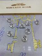 Стразы Премиум Капля в юв.кастах, 7*10 мм бриллиант (Белый, 7*10 мм)