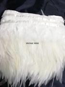 Перья марабу на ленте 10-15 см белые
