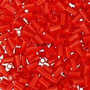 Стеклярус TOHO Bugle3 №50, 3мм, Оранжево-красный глянцевый, 5г