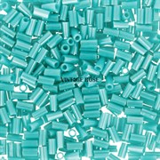 Стеклярус TOHO Bugle3 №132, 3мм, Светло-бирюзовый перламутр, 5г