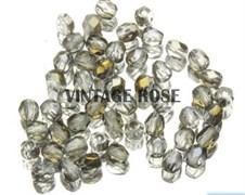 Чешские граненые бусины 3 мм кристалл бронза G209