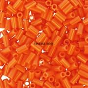 Стеклярус TOHO Bugle3 №42D, 3мм, Яркий оранжевый перламутр, 5г