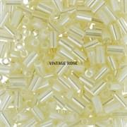 Стеклярус TOHO Bugle3 №147, 3мм, Бледно-жёлтый перламутр, 5г