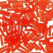 Стеклярус TOHO Bugle4 №05F, 9мм, Алый матовый, 5г