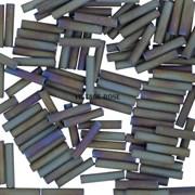 Стеклярус TOHO Bugle6 №614, 9mm , серо-зеленый ирис матовый, 5 г