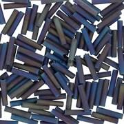 Стеклярус TOHO Bugle6 №615, 9mm , серо-фиолетовый ирис матовый, 5 г
