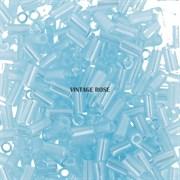 Стеклярус TOHO Bugle3 №143, 3мм, Светло-голубой перламутровый, 5г